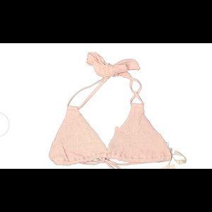 NEW! Tori Praver L Blush Pink Halter Bikini L